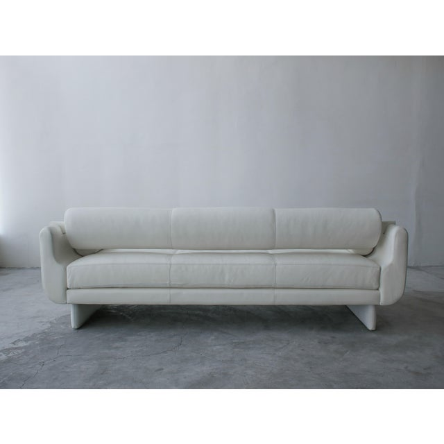 Leather Matinee Sofa Daybed by Vladimir Kagan for American Leather For Sale - Image 7 of 13