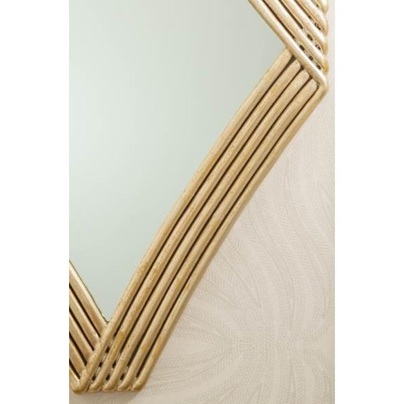 The diamond wave mirror has a soft inviting design for your entry or powder room. Finish is 14th century silver. Turn it...
