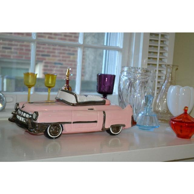 American Classical Pink Cadillac Cookie Jar For Sale - Image 3 of 10