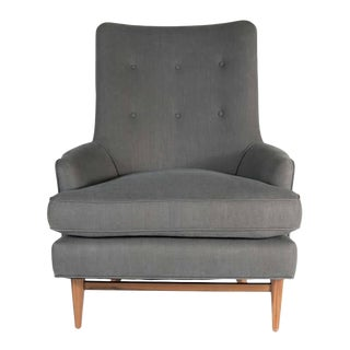 Customizable Whitby Walnut Base Lounge Chair For Sale