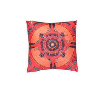 """Jardin Enchante"" Hermès Silk Scarf Pillow For Sale"