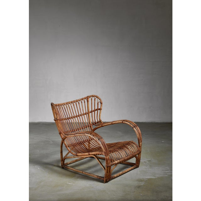 Viggo Boesen Bamboo Lounge Chair for e.v.a. Nissen, Denmark, 1930s For Sale - Image 6 of 6
