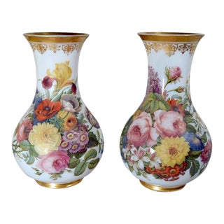 French Baccarat Opaline Crystal Vases by Jean-Francois Robert - a Pair For Sale