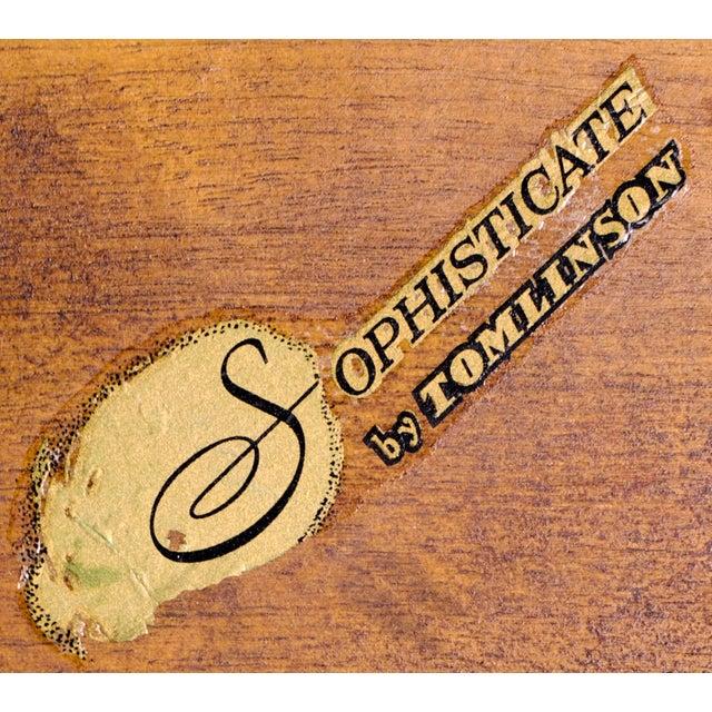 1950s 1950s Art Deco Tomlinson Burlwood & Oak Coffee Table For Sale - Image 5 of 12