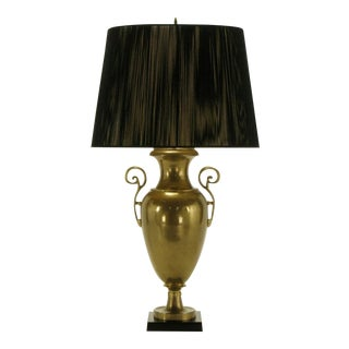Circa 1972 Chapman Brass Urn Form Table Lamp. For Sale