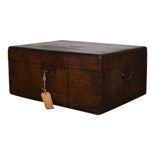 19th C. Mahogany and Brass Silverware Chest From Pennsylvania C.1880 For Sale