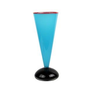 Ibex Postmodern Art Glass Vase For Sale