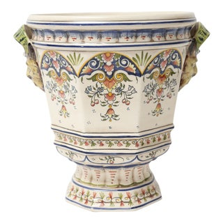 French Rouen Desvres Faience Cache Pot Jardiniere