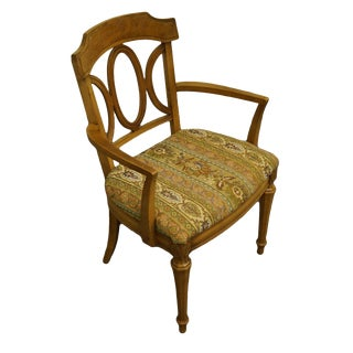 Thomasville Furniture La Scala Collection Italian Provincial Dining Arm Chair For Sale