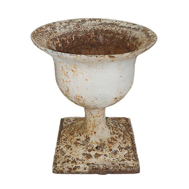 Early 20th Century Early 20th Century Traditional Cast Iron Garden Urn For Sale - Image 5 of 6