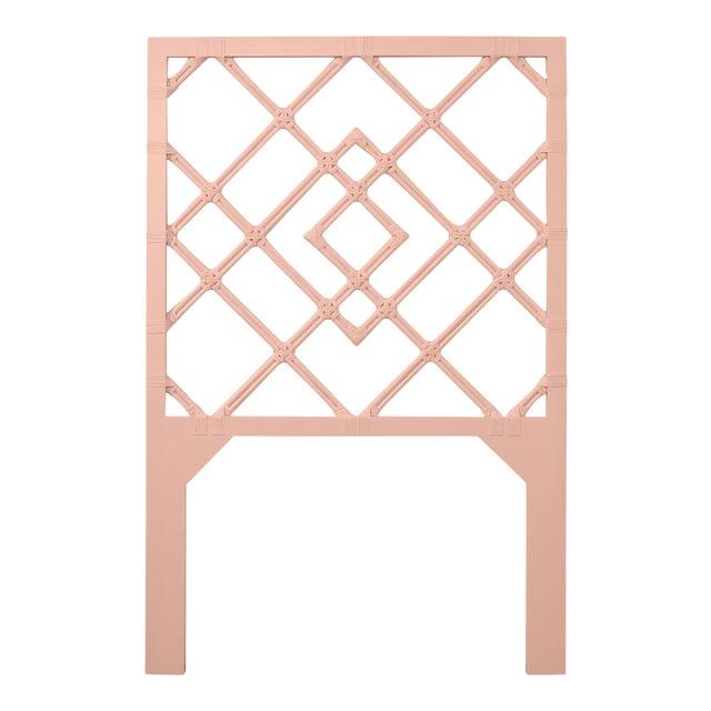 David Francis Furniture for Chairish Darien Headboard Twin, Chippendale Rosetone For Sale