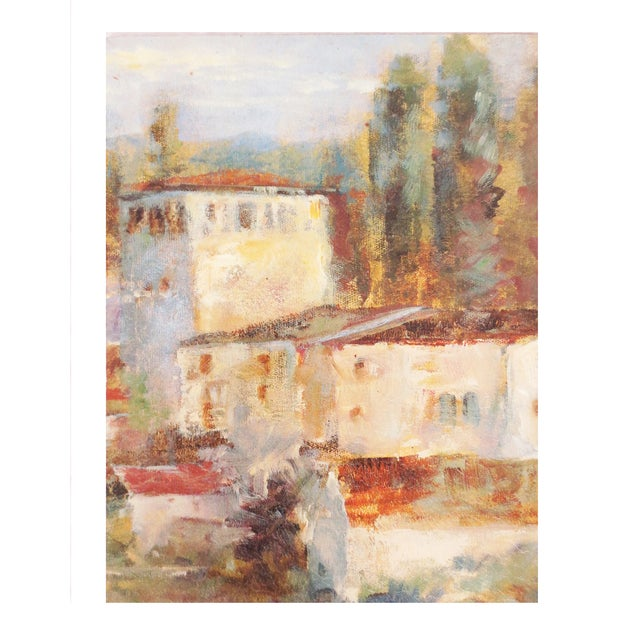 Tuscan Village Oil Painting - Image 1 of 3