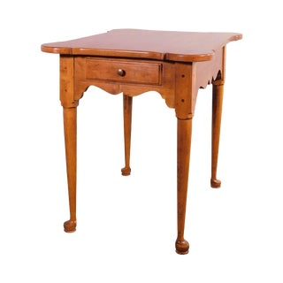 Ethan Allen Circa 1776 Collection Maple One Drawer Side Table For Sale