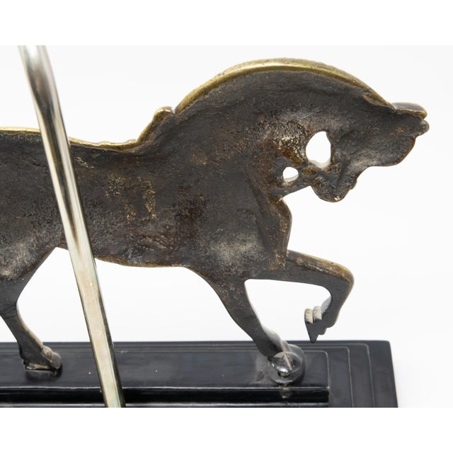 Vintage Mid Century Brass Horse Lamp For Sale - Image 10 of 12