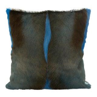 Springbok Pillow in Caribbean Blue 17x17 For Sale