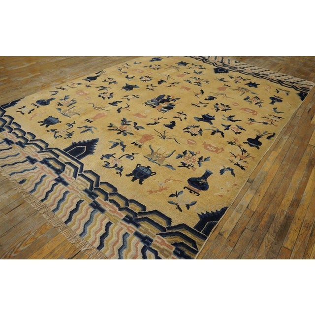 Chinese Antique Chinese - Ningxia Rugs 7' 8'' X 11' 0'' For Sale - Image 3 of 5