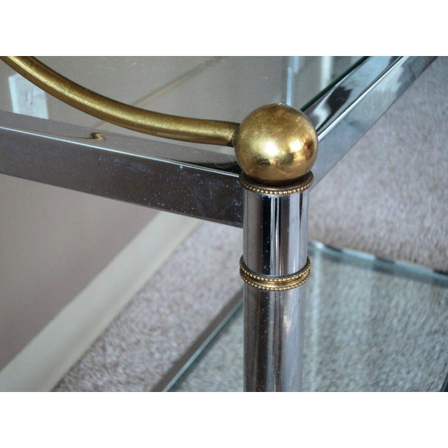 Vintage Chrome & Brass Console - Image 7 of 11