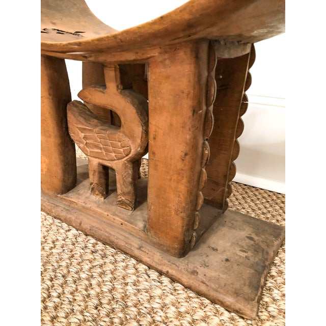 Tribal 1950s Vintage Wood Carved Ashanti Stool For Sale - Image 3 of 7