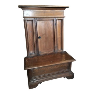 1900s Renaissance Revival Oak Prie Dieu Watson & Boaler Nighstand For Sale