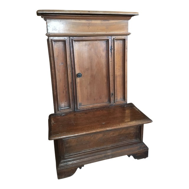 1900s Renaissance Revival Oak Prie Dieu Watson & Boaler Nightstand For Sale