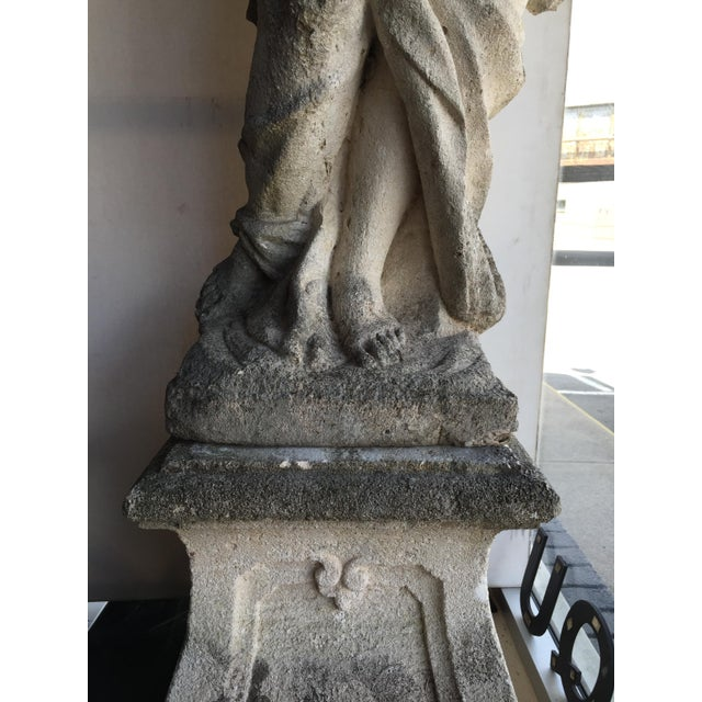 Antique Italian Stone Statue For Sale - Image 4 of 7