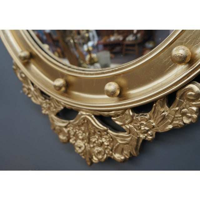 Federal Style Convex Mirror For Sale - Image 5 of 5