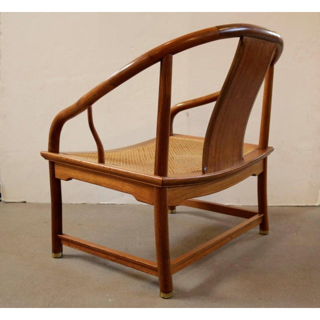 Mid-Century Modern Michael Taylor for Baker Far East Collection Caned Chair For Sale - Image 3 of 7