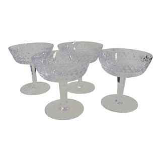 Waterford Champagne Coupes - Set of 4 For Sale