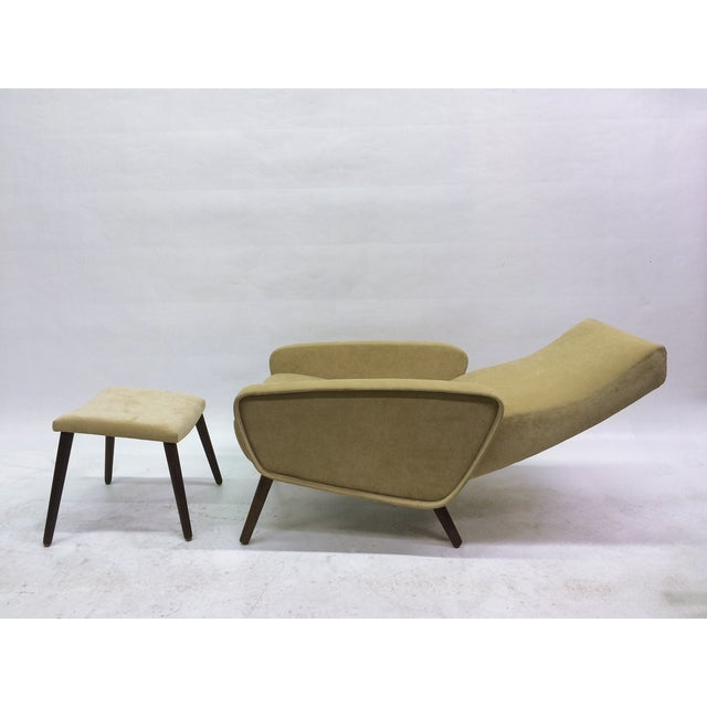 Mid-Century Italian 1950s Recliner With Ottoman - Image 3 of 6
