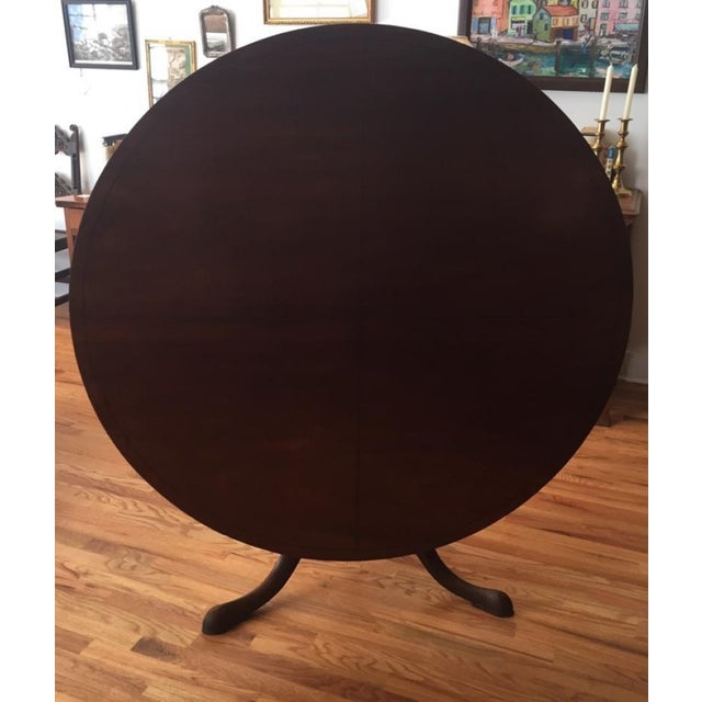 Traditional 18th Century Victorian Mahogany Tilt Top Game Table For Sale - Image 3 of 7