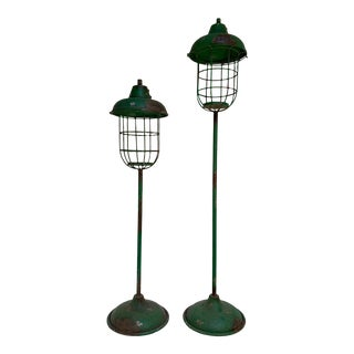 Vintage Distressed Patio Lamps - a Pair For Sale