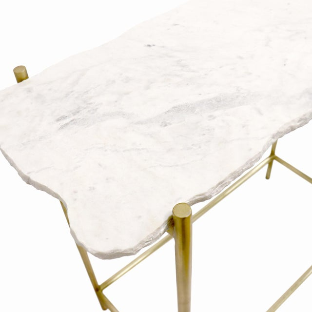 Pasargad Home Vasto Marble & Stainless Steel Console For Sale - Image 4 of 8