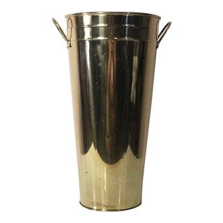Brass Tall Florist Bucket For Sale