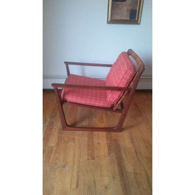 Mid-Century Modern Vintage Hans Olsen by Selig Teak Lounge Chair For Sale - Image 3 of 10