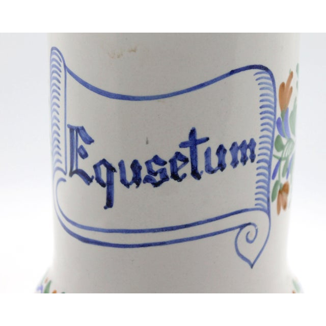 Rustic Spanish Apothecary Jar, Hand Painted & Signed For Sale - Image 3 of 7