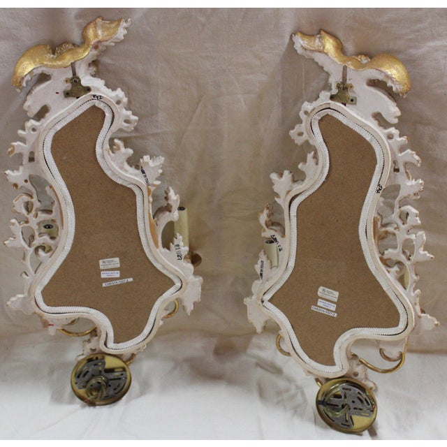 20th Century Rococo Gold Sconces- a Pair For Sale - Image 11 of 12