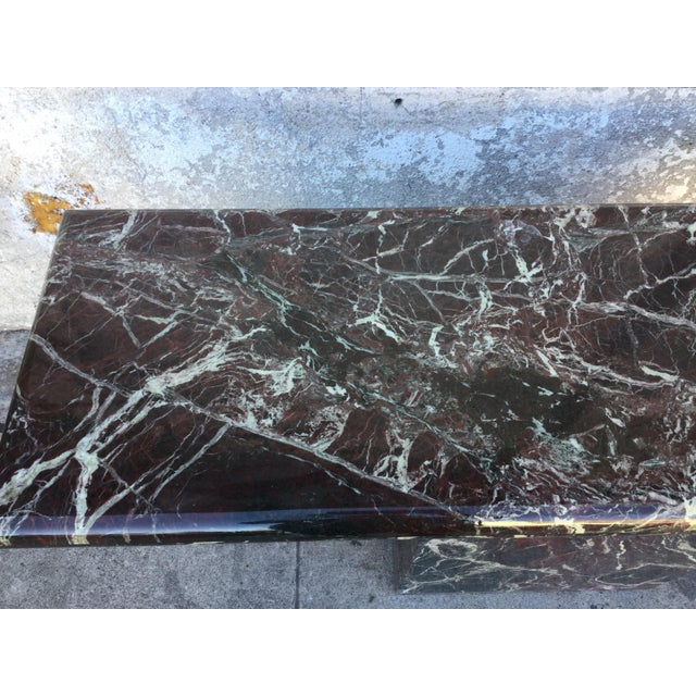 Mid-Century Modern Marble Entryway Console Table For Sale - Image 3 of 6