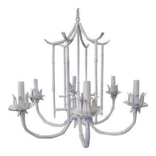 Faux Bamboo Pagoda Chandelier For Sale