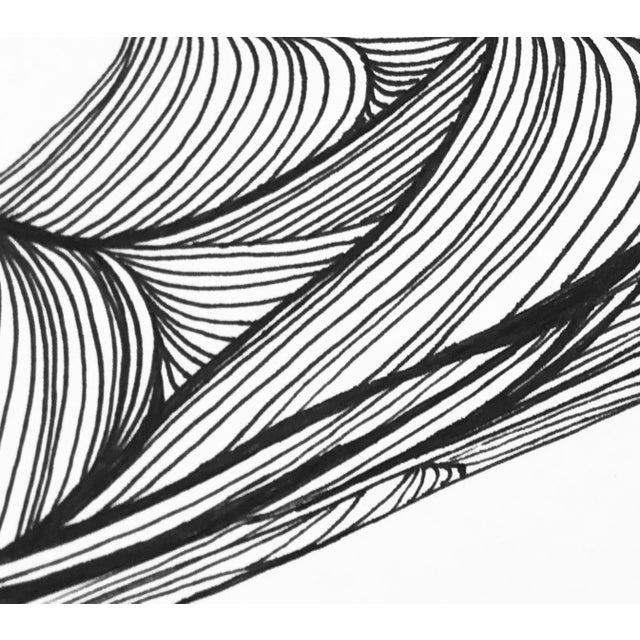 "Pen and Ink Christy Almond ""The Waves of the Sea"" Contemporary Pen & Ink Drawing For Sale - Image 7 of 8"