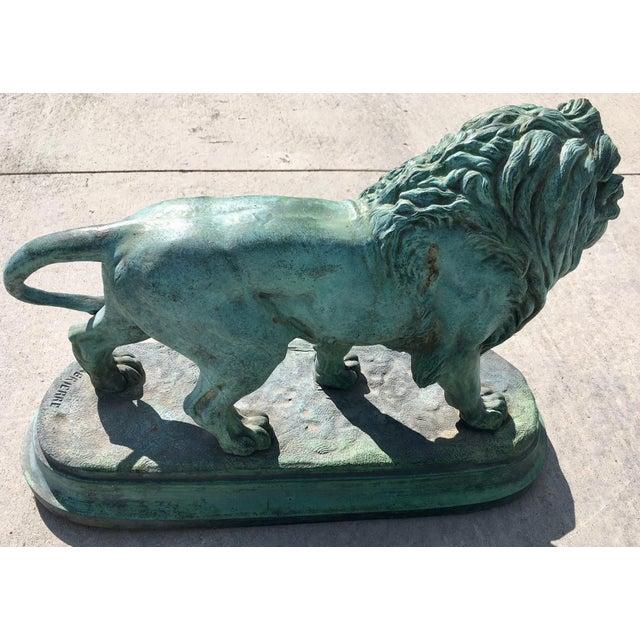 Paul-Edouard Delabrierre Bronze Lions - a Pair For Sale - Image 9 of 13
