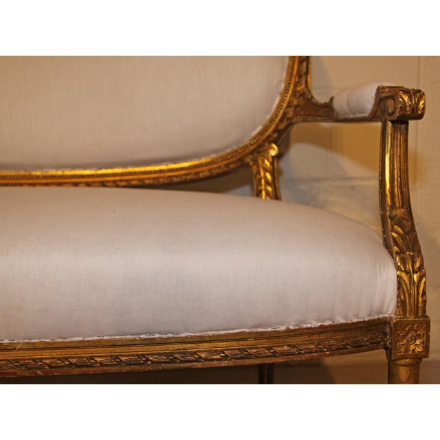 Late 19th Century 1880s French Settee For Sale - Image 5 of 7