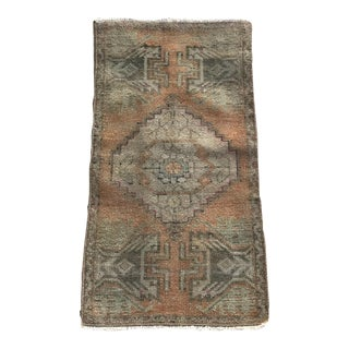 "Hand Made Turkish Yastik Rug With Nomadic Design- 1'6"" X 2'10"" For Sale"