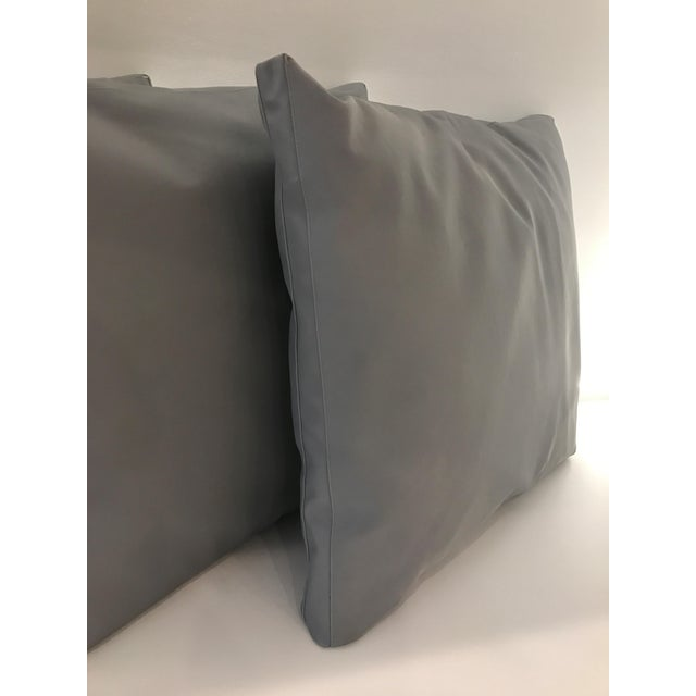 Contemporary Outdoor Gray Pillows - Set of 4 For Sale - Image 3 of 5
