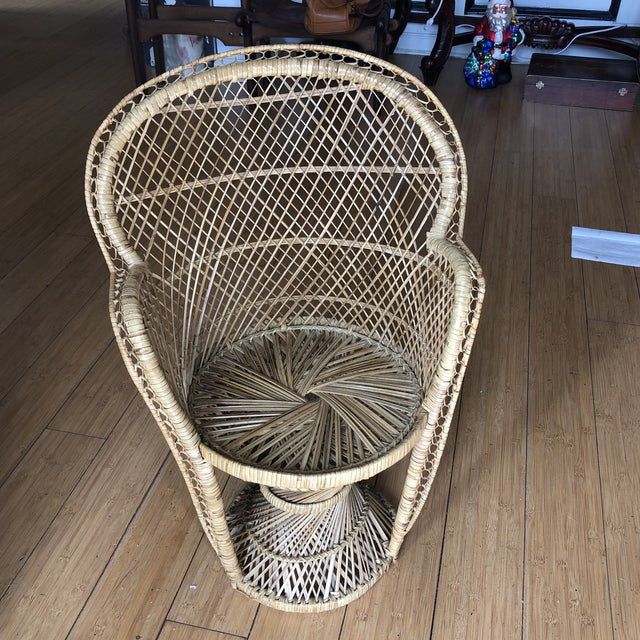 1970s Vintage Children's Peacock Chair For Sale - Image 10 of 10