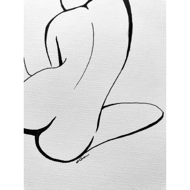 """The Pose I I I"" Original Pen & Ink Drawing For Sale - Image 4 of 6"
