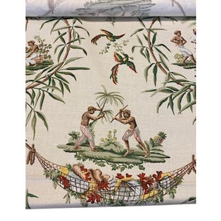 Bailey & Griffin Port Royal Printed Fabric For Sale