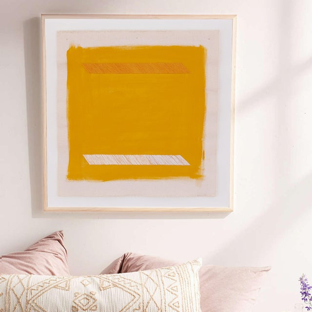 """2020s Mustard Yellow Abstract 16"""" Fine Art Print by Emily Keating Snyder For Sale - Image 5 of 5"""