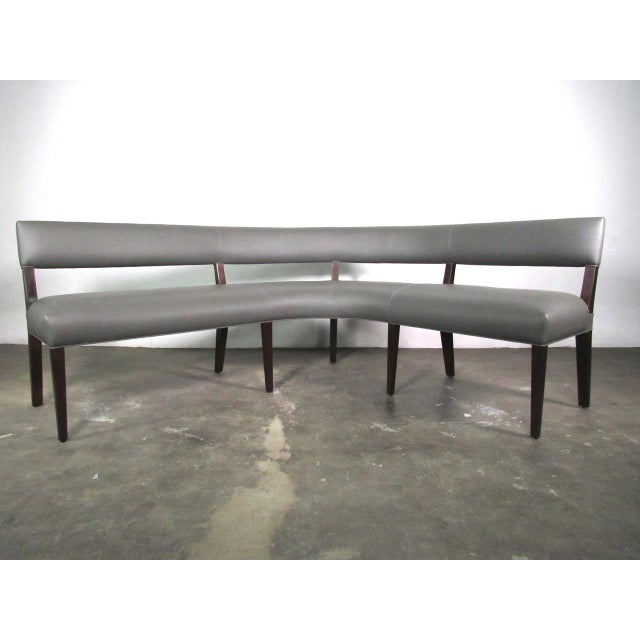 2010s New Custom Made Constantini Curved Bruno Bench For Sale - Image 5 of 11
