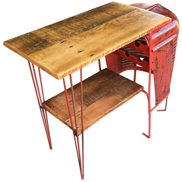 Rustic Tractor Table Wine Cabinet - Image 1 of 6