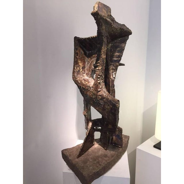 1960s Constantin Andreou Welded Brass Sculpture For Sale - Image 5 of 10